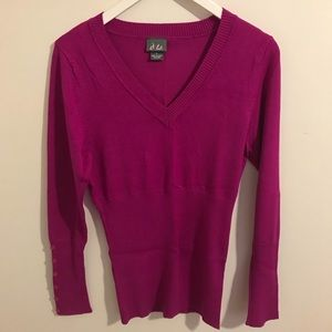 Dots long sleeve sweater size large stretchy